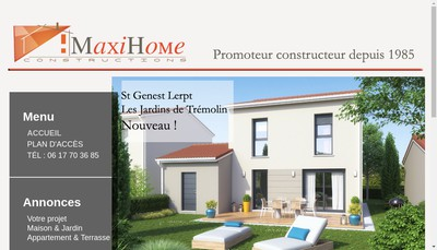 Site internet de RTC Maxi Home