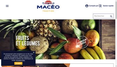 Site internet de Maceo Distribution Maxi Sec la Maison Creole
