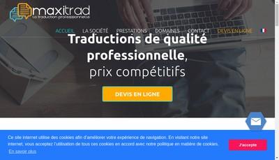 Site internet de MaxiTrad
