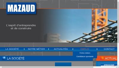 Site internet de Mazaud Entreprise Generale