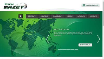 Site internet de Mazet International