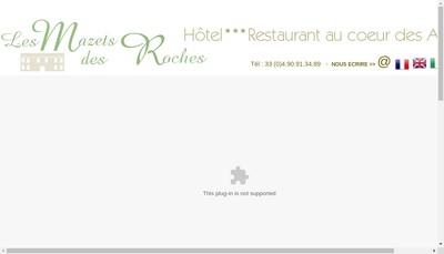 Site internet de Les Mazets des Roches
