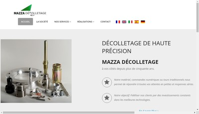 Site internet de Mazza Decolletage