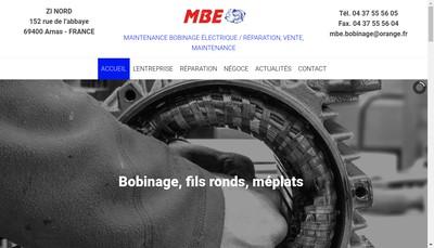 Site internet de MBE
