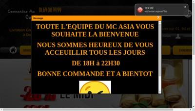 Site internet de Mc Asia