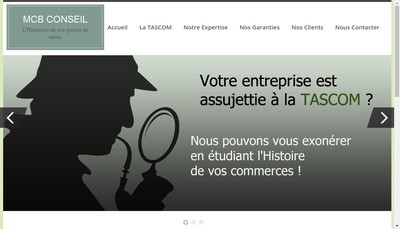 Site internet de Mcb Conseil