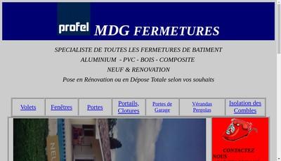 Site internet de Mdg Fermetures