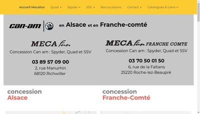 Site internet de Meca Fun