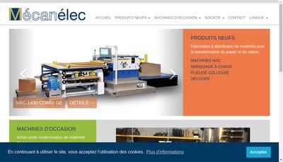 Site internet de Mecanelec