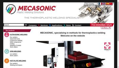 Site internet de Mecasonic