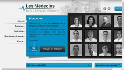 Site internet de Clinique du Millenaire