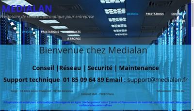 Site internet de Medialan