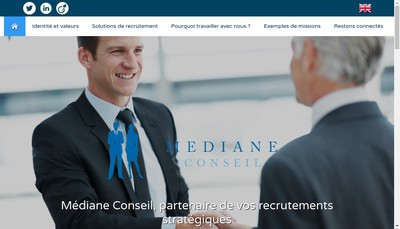Site internet de Mediane Conseil & Associes