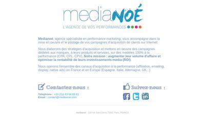 Site internet de Medianoe