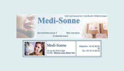 Site internet de Medisonne