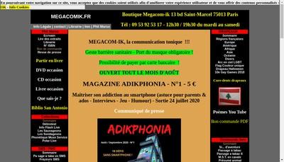 Site internet de Megacom Ik