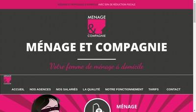 Site internet de Menage et Compagnie Pro