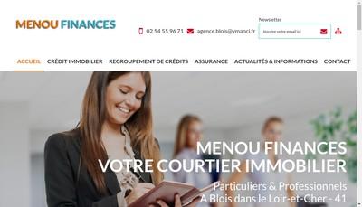 Site internet de Menou Finances