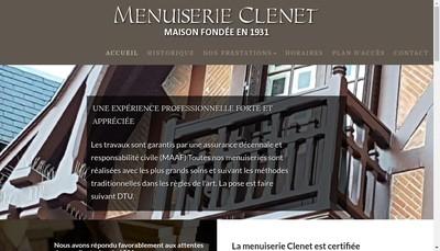 Site internet de Menuiserie Clenet