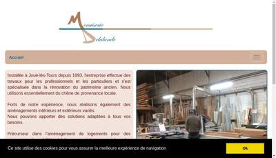 Site internet de Menuiserie Delalande