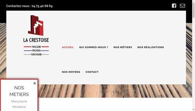 Site internet de Crestoise de Menuiserie