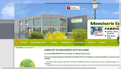Site internet de Menuiserie Est