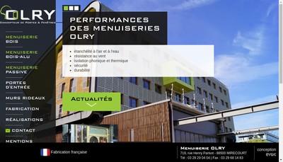 Site internet de Menuiserie Olry