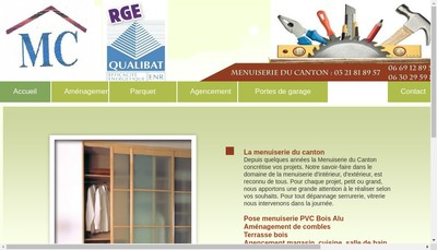 Site internet de Menuiserie du Canton