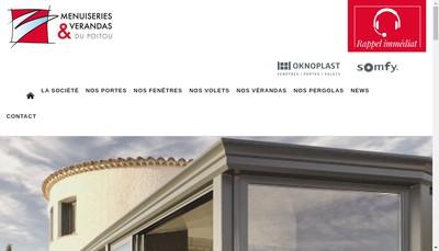 Site internet de Menuiseries et Verandas du Poitou