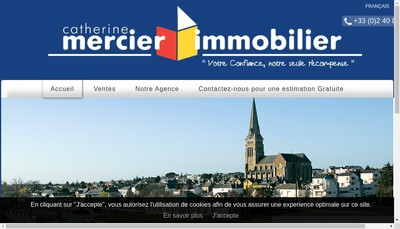 Site internet de Mercier Immobilier