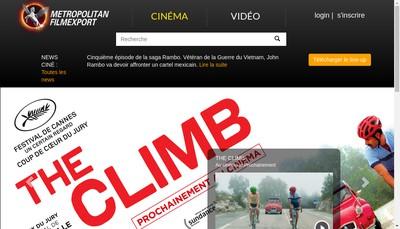 Site internet de Metropolitan Filmexport