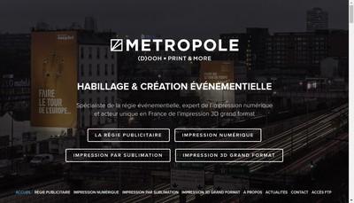 Site internet de Metropole Atelier