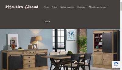 Site internet de Meubles Gibaud