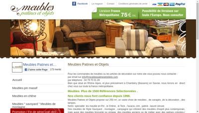 Site internet de Patines & Objets