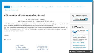 Site internet de Mfa Expertise