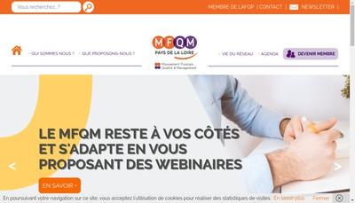 Site internet de Mouvement Fr pour Qualite Pays Loire