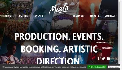 Site internet de Miala