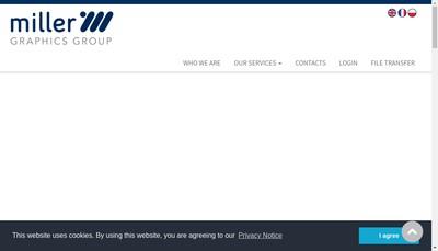 Site internet de Miller Graphics Paris-Beauvais