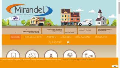 Site internet de Societe Nouvelle Mirandel