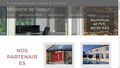 Site internet de Miroiterie de l'Adour