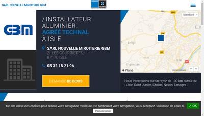 Site internet de Miroiterie Gbm