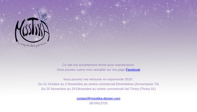 Site internet de Misstika Bijoux