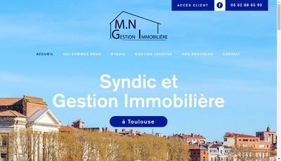 Site internet de MN Gestion Immobiliere