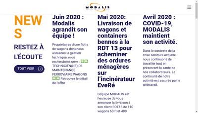 Site internet de Modalis