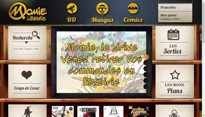 Site internet de Momie Librairie