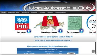 Site internet de Le Cercle Mon Automobile Club