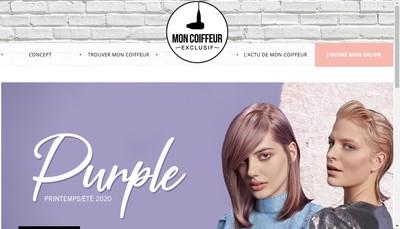 Site internet de Mon Coiffeur, Ma Famille, Exclusif