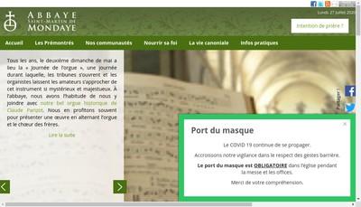 Site internet de Hotellerie Saint Norbert