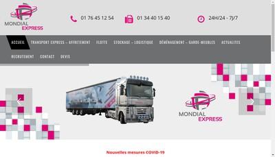 Site internet de Mondial Stockage