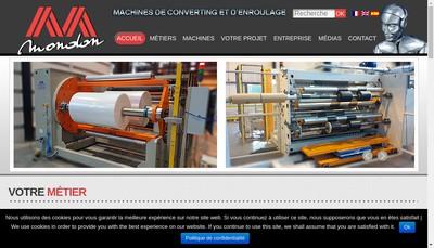 Site internet de SAS Mondon